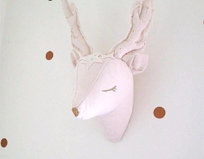 3d Stuffed Reindeer/Unicorn Wall Decoration