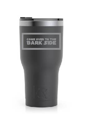 Stainless Steel Tumbler (20 oz) Black (Come Over to the Bark Side)