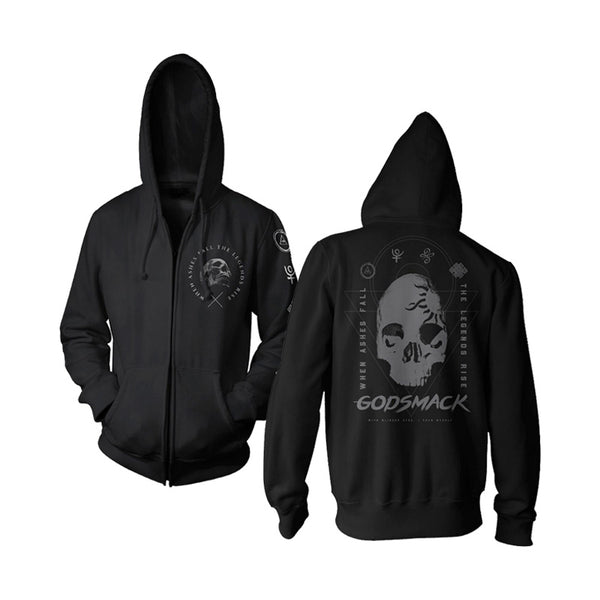 Ashes Legends Symbols Zip Hoodie