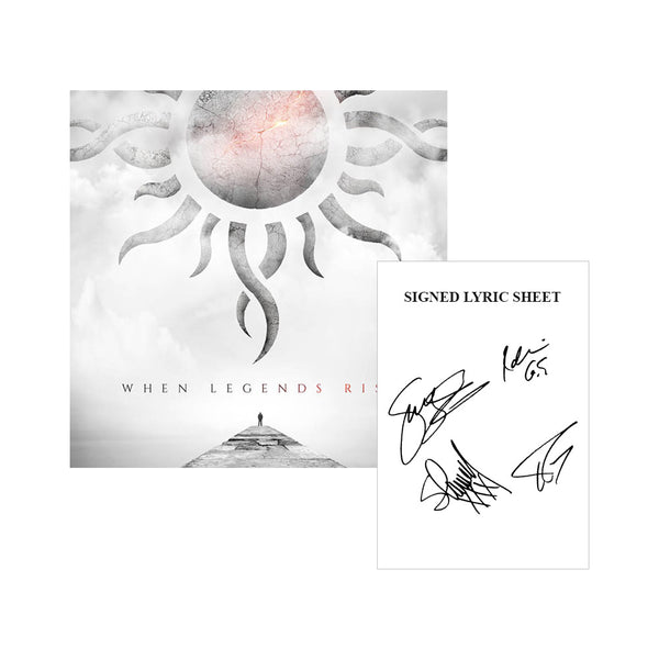 When Legends Rise Digital Album & Signed Lyrics Sheet Bundle