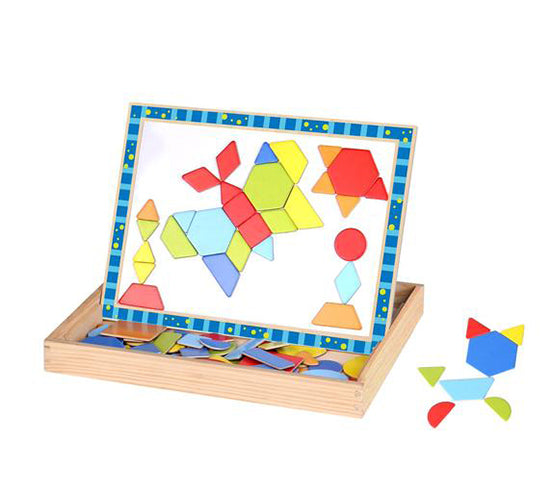 Wooden Magnetic Puzzle Double Side for Boys Girls