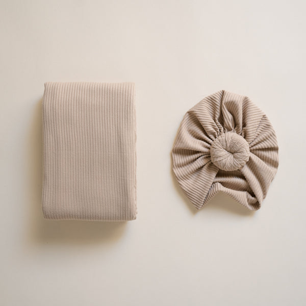 Almond Turban and Swaddle Set