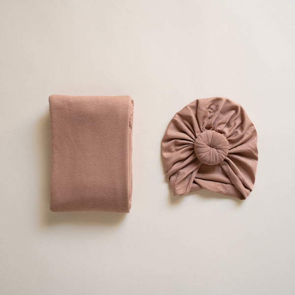 Sandstone Turban and Swaddle Set
