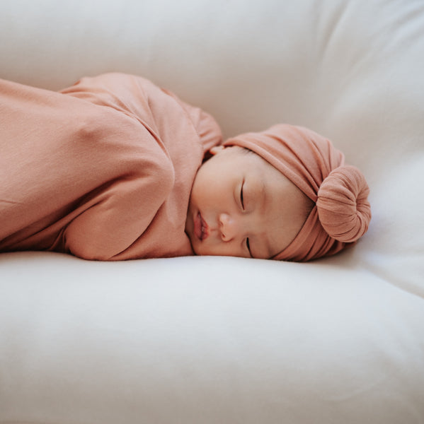 Caramel Turban and Swaddle Set