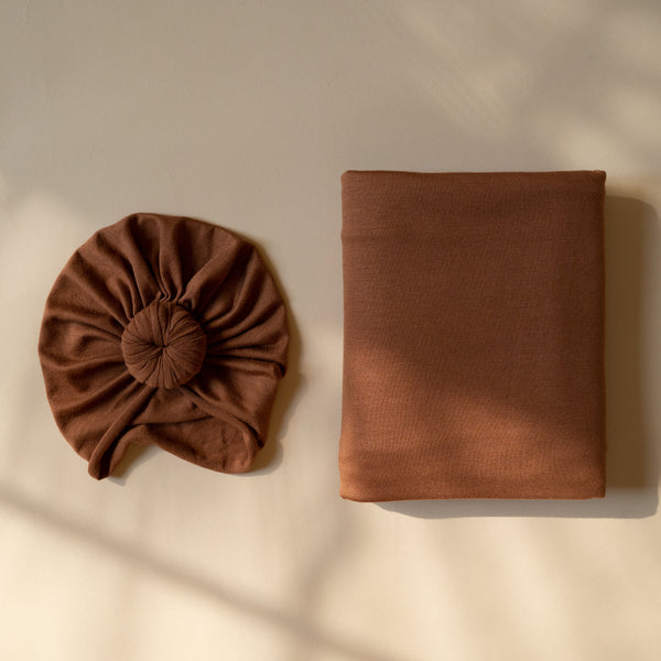 Rust Turban and Swaddle Set