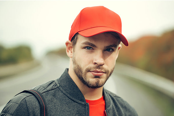 Young man in baseball cap