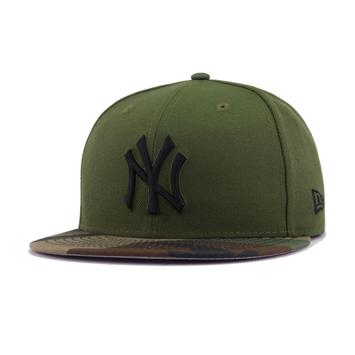 515ff1710a292 New York Yankees Rifle Green Woodland Camouflage Black New Era 59Fifty  Fitted