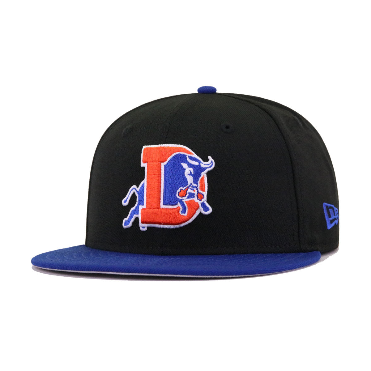 Durham Bulls Black Light Royal Blue New Era 59Fifty Fitted