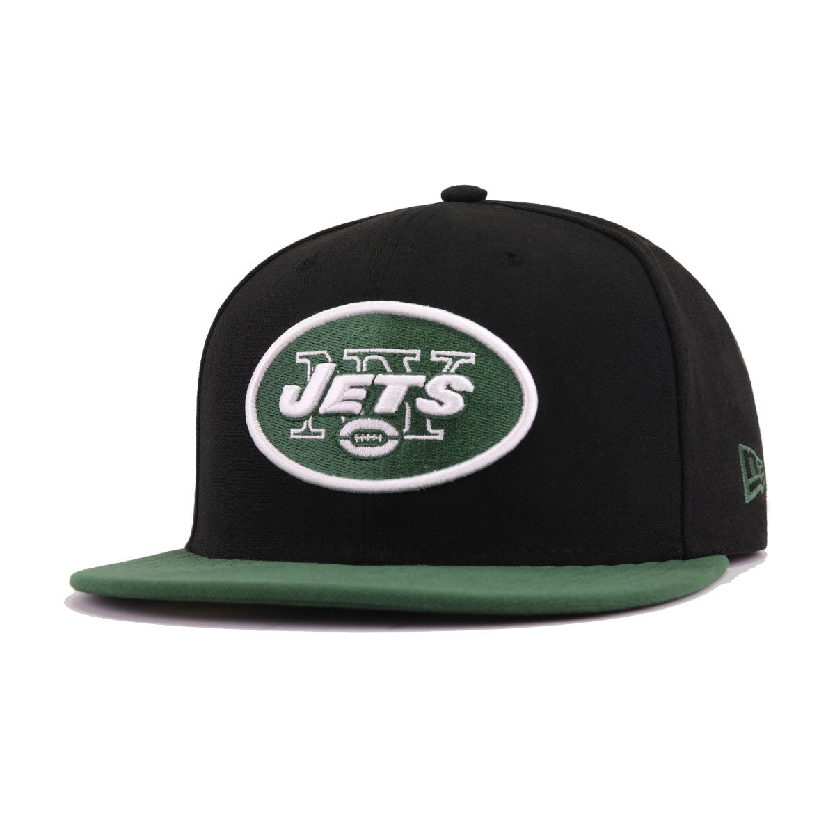 9ca31420ef1 New York Jets Black Cilantro Green New Era 59Fifty Fitted