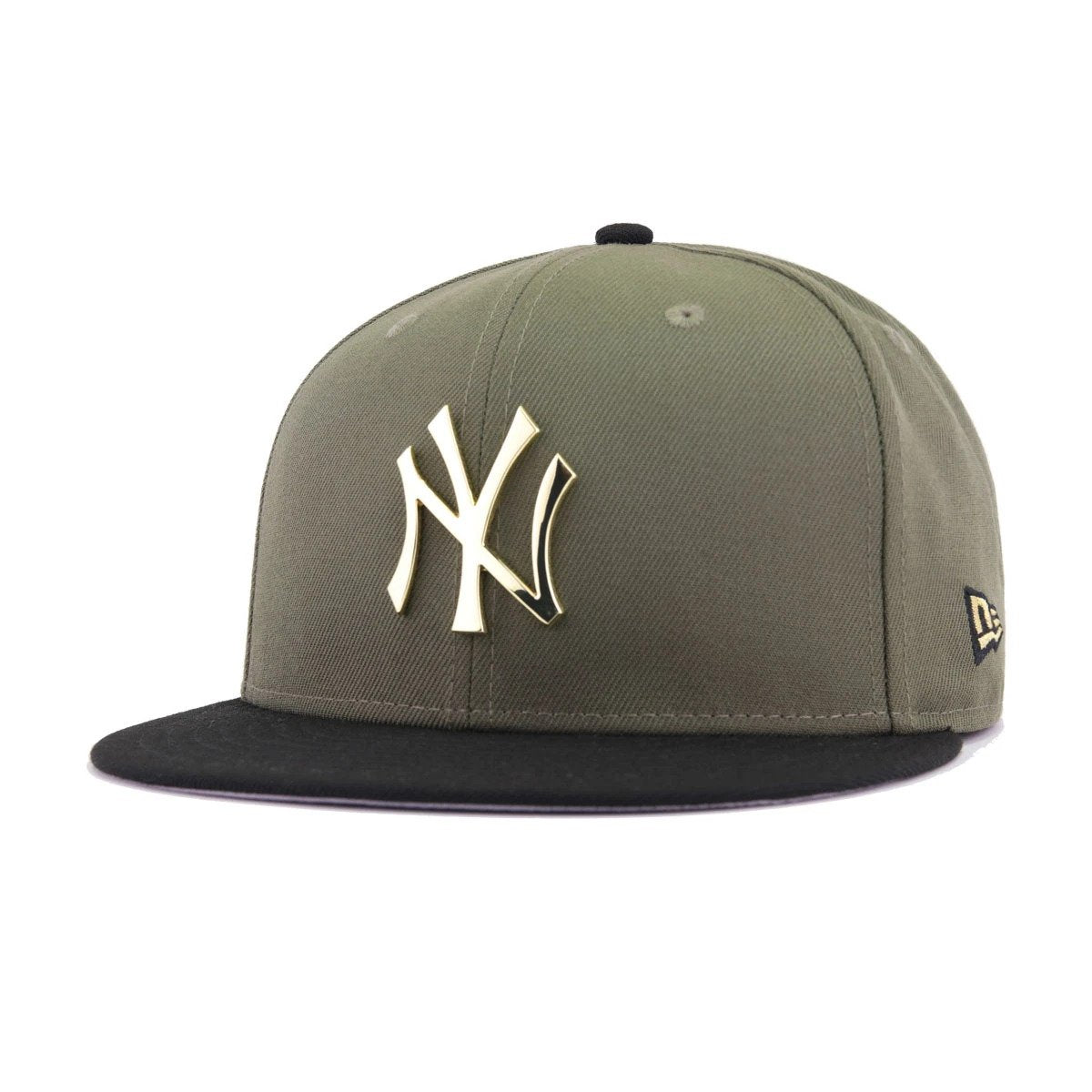 ff4a80dc252 New York Yankees New Olive Black Gold Metal Badge New Era 9Fifty Snapback