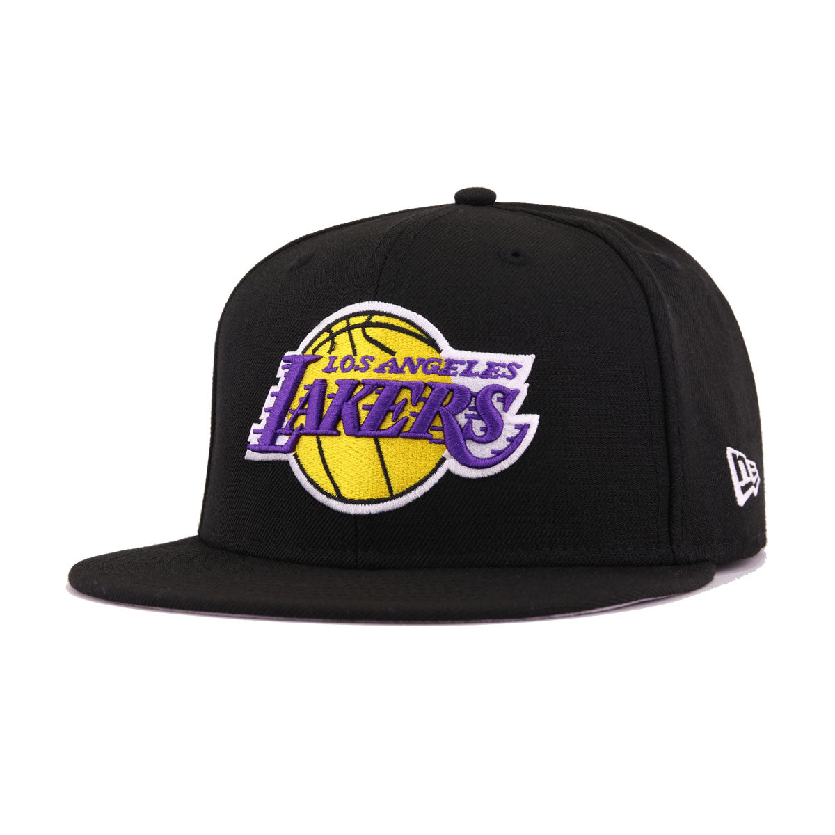 3275f2a594daa5 Los Angeles Lakers Black 16 Championships New Era 59Fifty Fitted