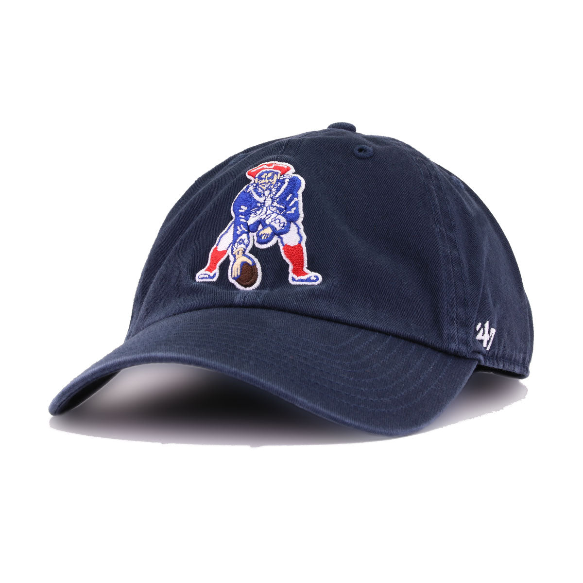 New England Patriots Legacy Navy 47 Brand Clean Up Dad Hat