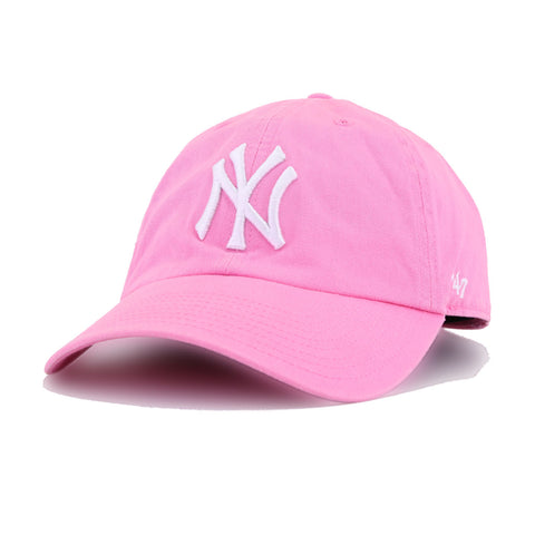 New York Yankees Pink 47 Brand Clean Up Dad Hat