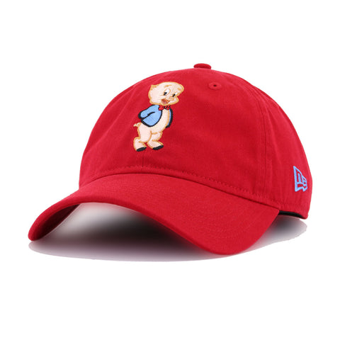 Warner Bros Porky Pig Scarlet New Era 9Twenty Dad Hat