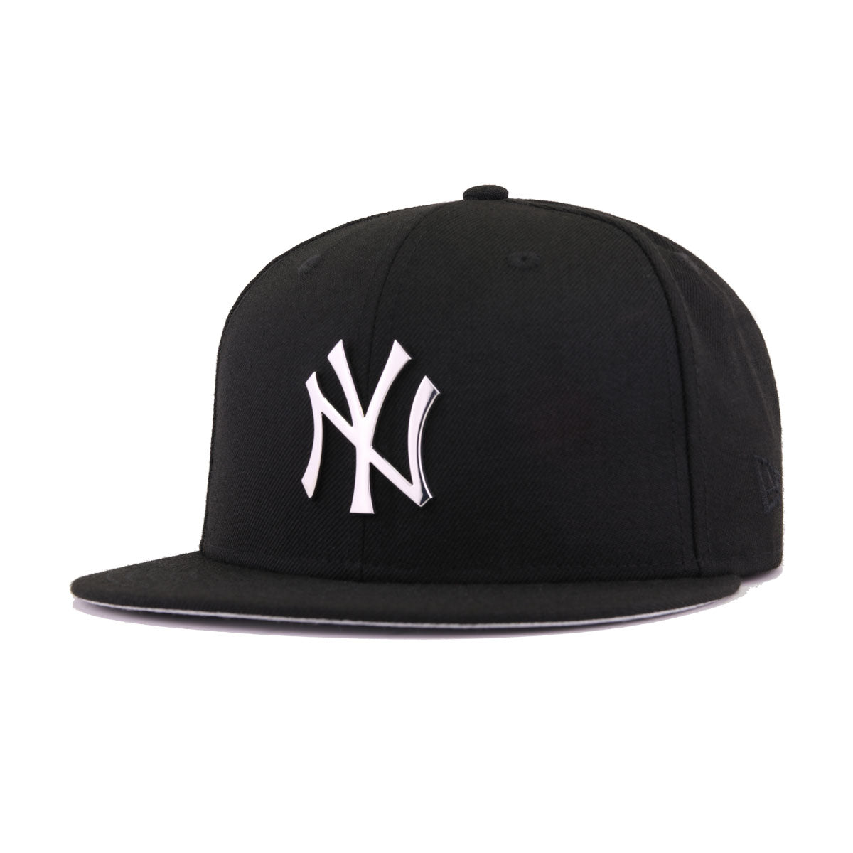 New York Yankees Black Silver Metal Badge 100th Anniversary New Era 9Fifty Snapback