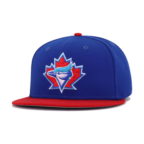 Toronto Blue Jays Light Royal Blue Scarlet 1997 Cooperstown AC New Era 59Fifty Fitted