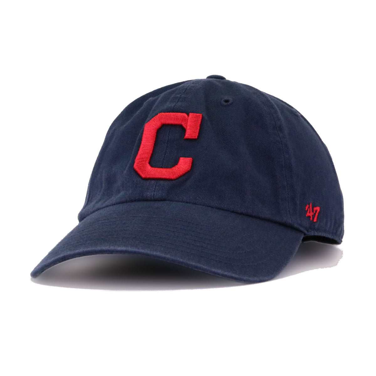 Cleveland Indians Navy 47 Brand Clean Up Dad Hat