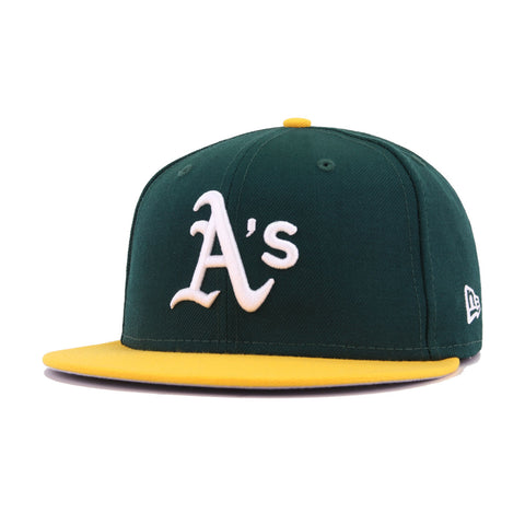 Oakland Athletics Dark Green A's Gold Cooperstown 1972 World Series New Era 59Fifty Fitted