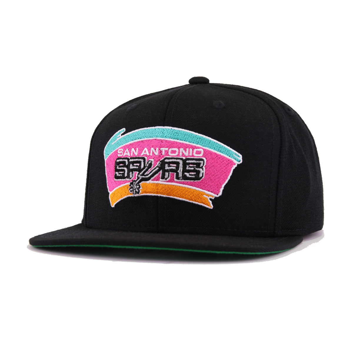 info for b2c68 9346c San Antonio Spurs Black Hardwood Classic Mitchell and Ness Snapback