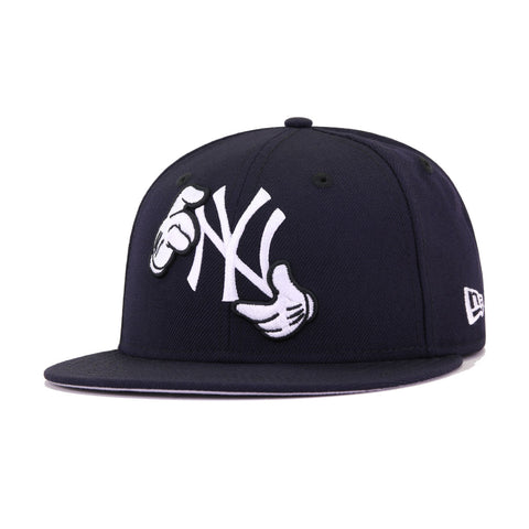 New York Yankees x Disney Navy Mickey Hands New Era 59Fifty Fitted