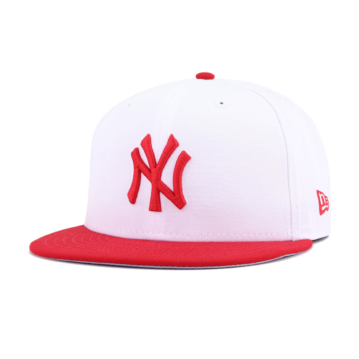 New York Yankees White Twill Scarlet New Era 9Fifty Snapback