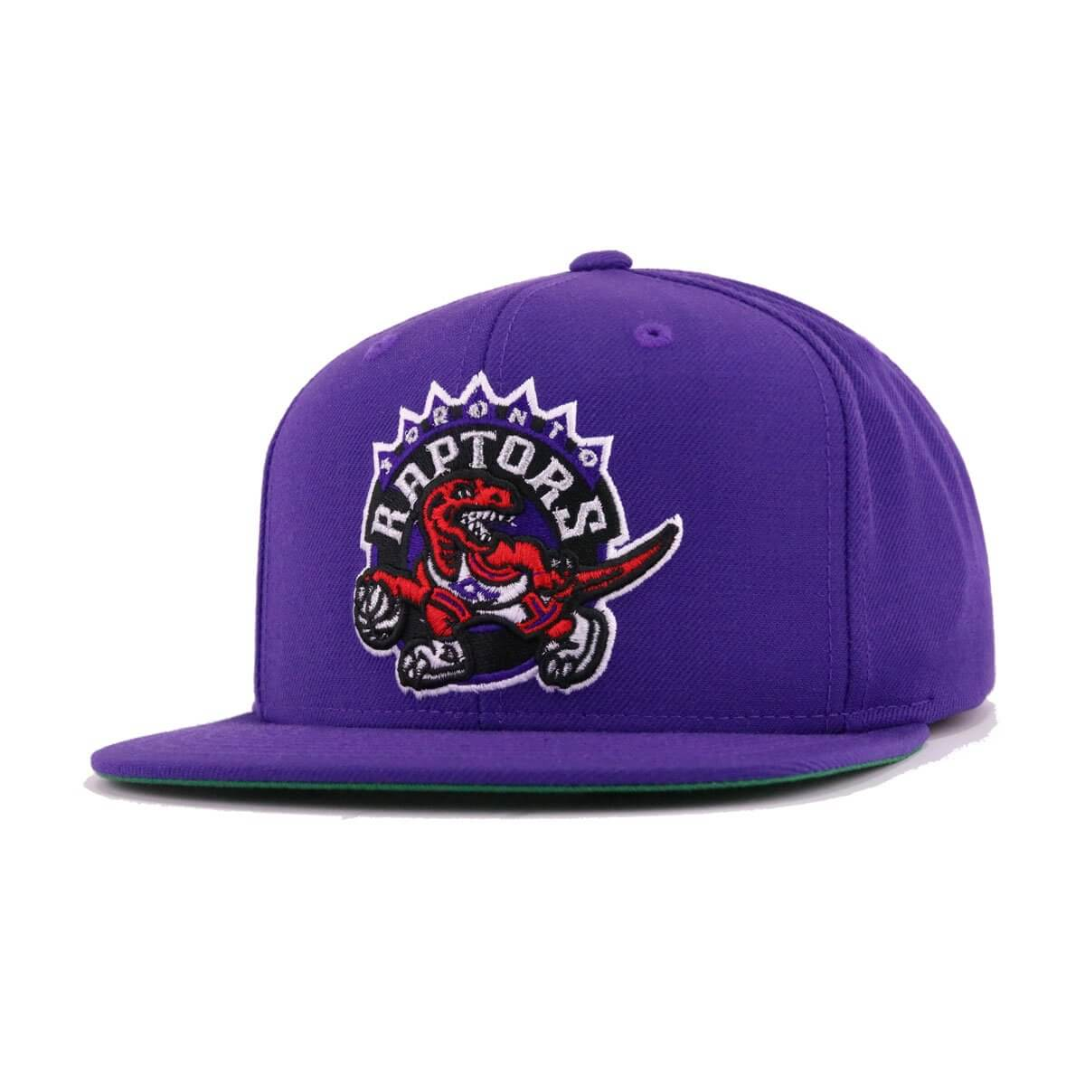 Toronto Raptors Deep Purple Hardwood Classic Mitchell and Ness Snapback