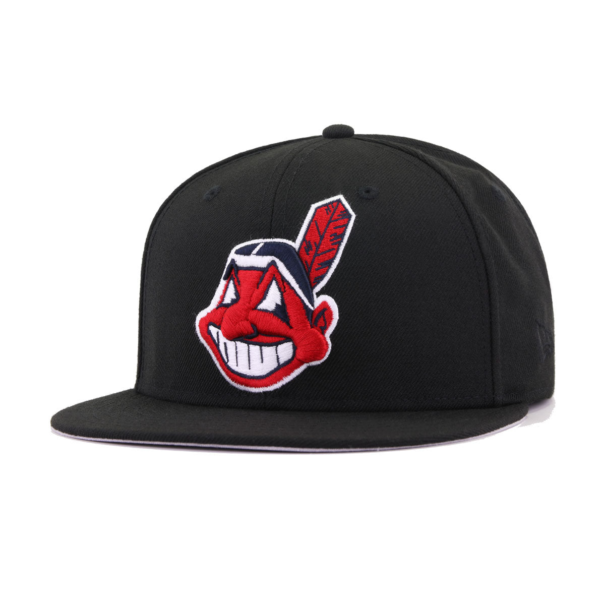 Cleveland Indians Black Chief Wahoo New Era 59Fifty Fitted