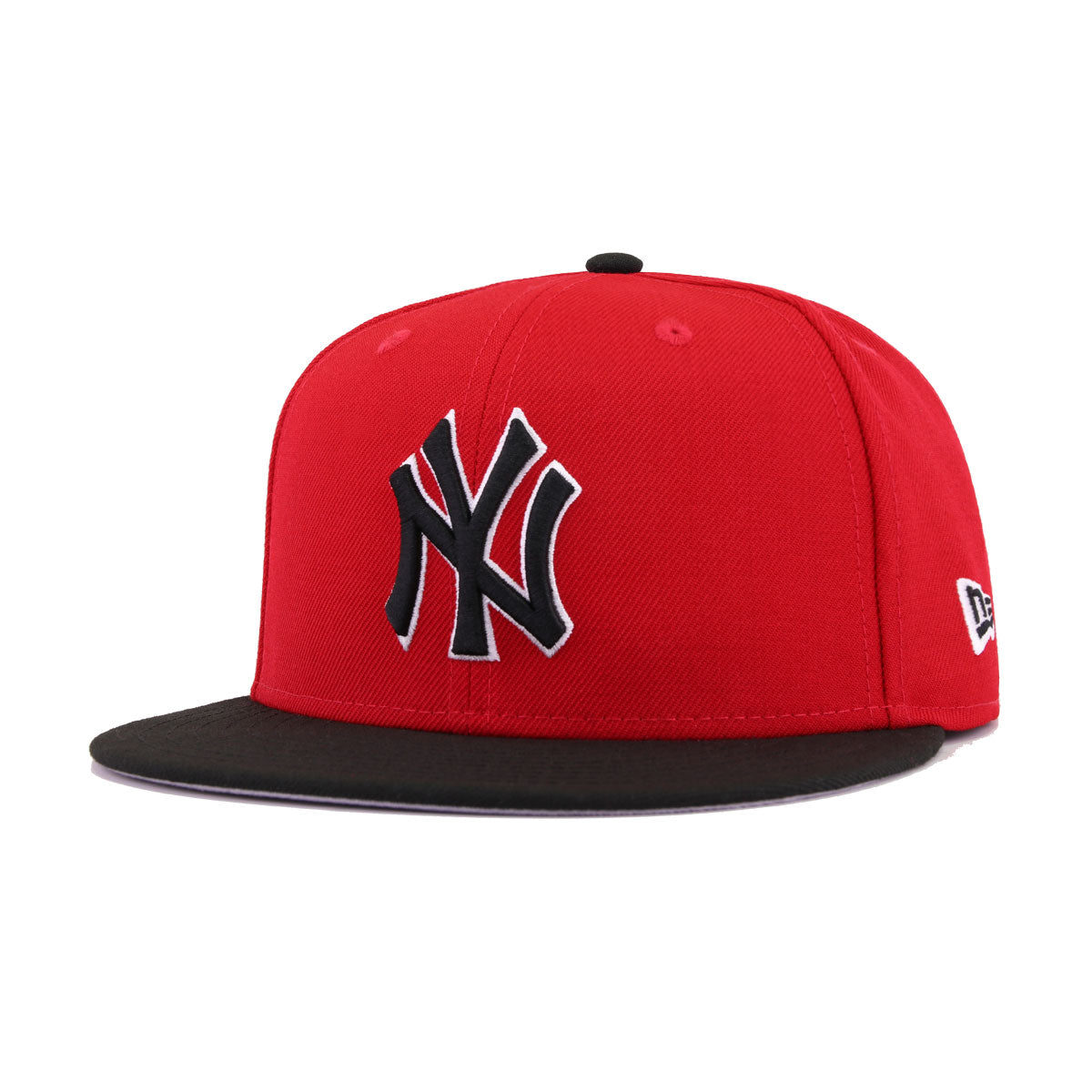 New York Yankees Scarlet Black New Era 59Fifty Fitted