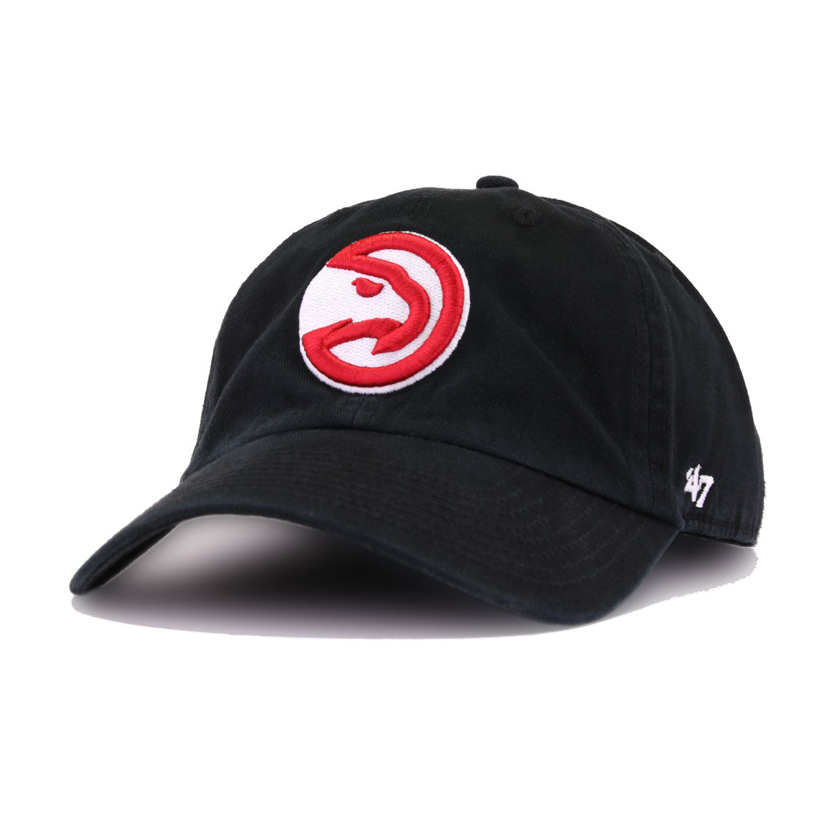 Atlanta Hawks Black 47 Brand Clean Up Dad Hat