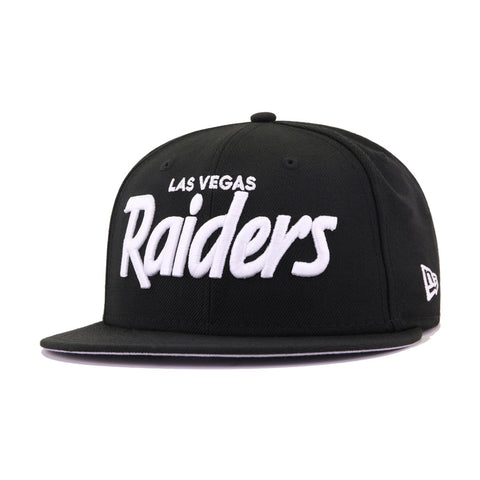 Las Vegas Raiders Black Wordmark New Era 9Fifty Snapback