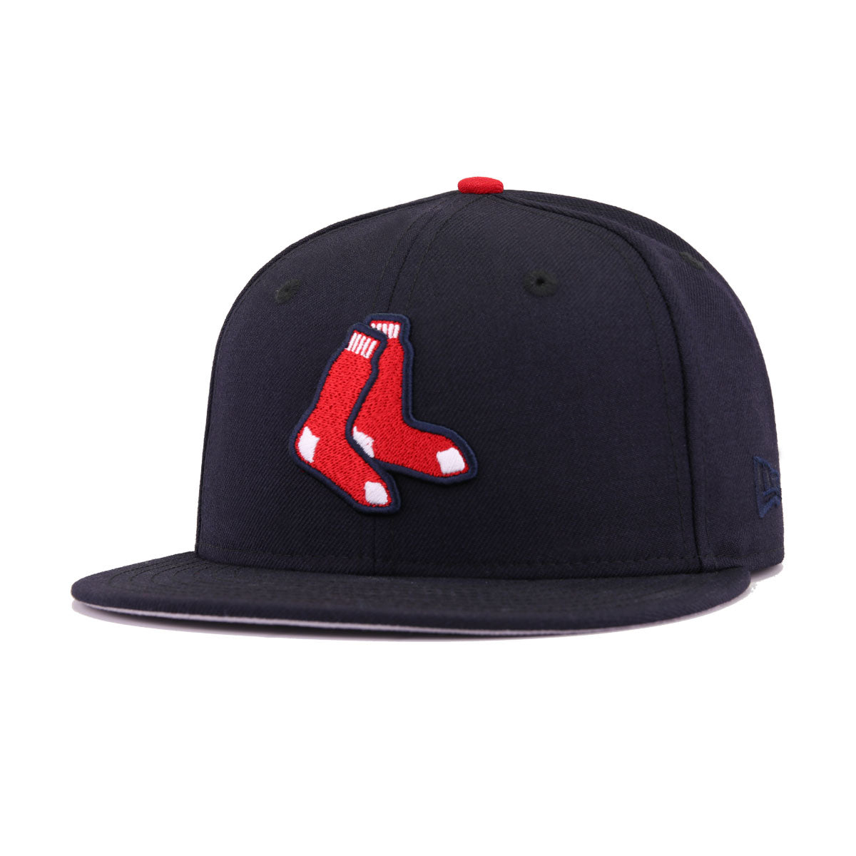 Boston Red Sox Navy Socks New Era 59Fifty Fitted e227c2b3085c