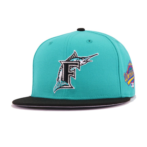 37aabc8b8022a Florida Marlins Teal Black 1997 World Series Cooperstown New Era 59Fifty  Fitted
