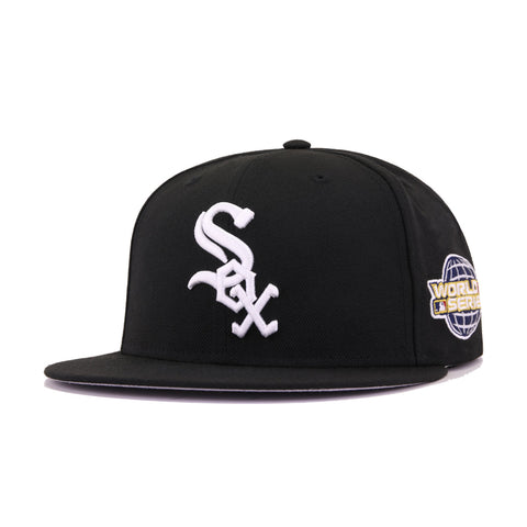 Chicago White Sox Black White Cooperstown 2005 World Series New Era 59Fifty Fitted