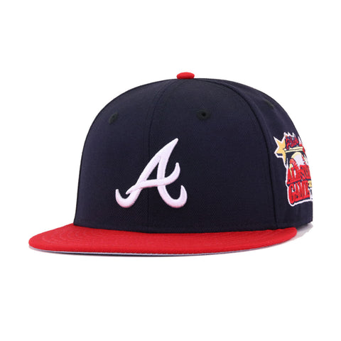 Atlanta Braves Navy Scarlet 2000 All Star Game Cooperstown New Era 59Fifty Fitted