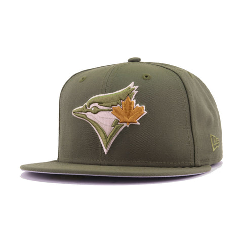 de21bfc7 Toronto Blue Jays New Olive Perfect Tan Wicker New Era 59Fifty Fitted