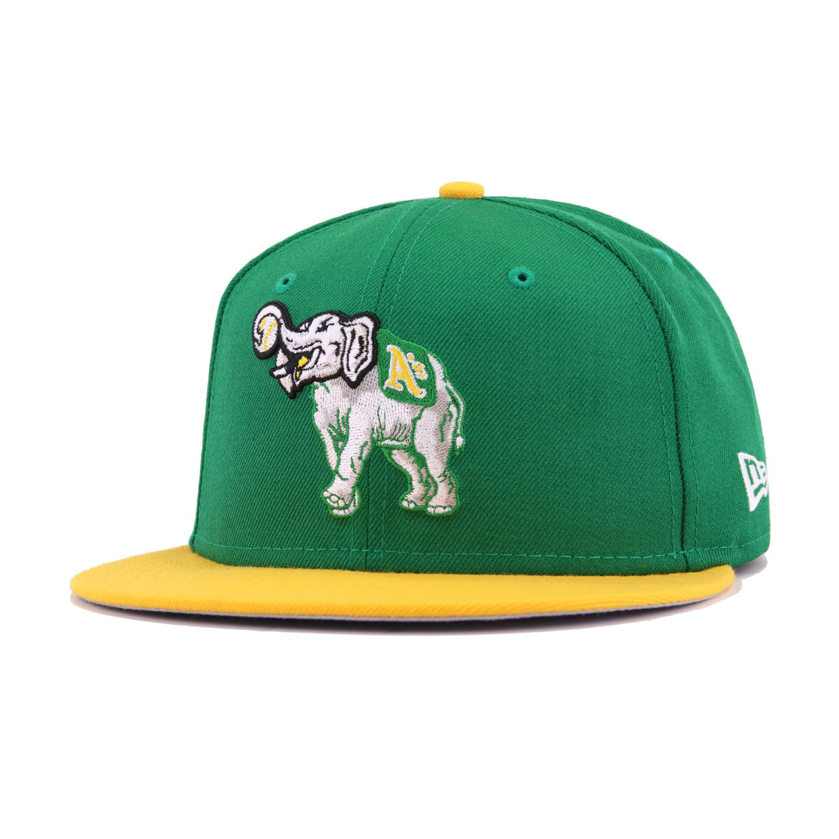 competitive price 17fe3 980de Oakland Athletics Kelly Green A's Gold Stomper New Era 9Fifty Snapback