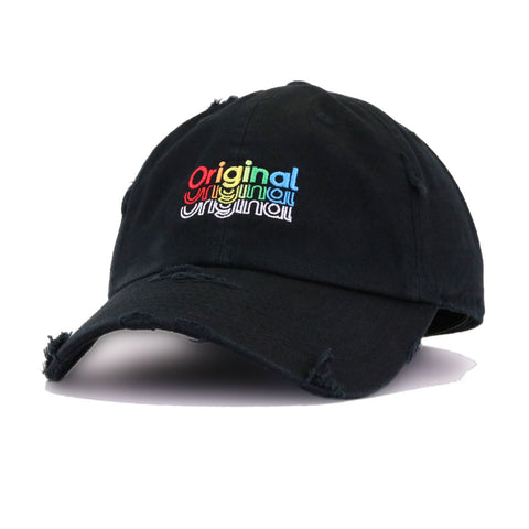Distressed Original Black KBEthos Vintage Dad Hat