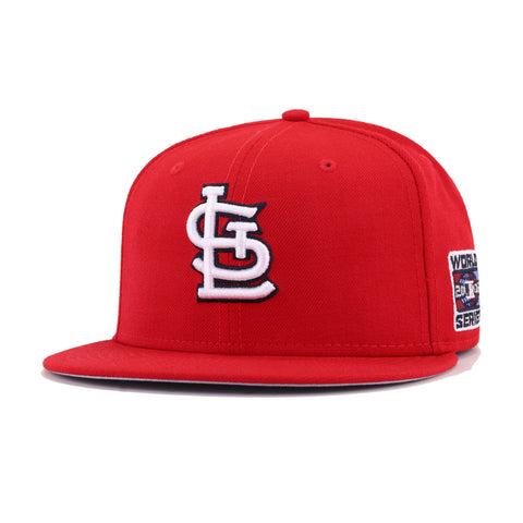 St Louis Cardinals Scarlet Cooperstown 2006 World Series New Era 59Fifty Fitted