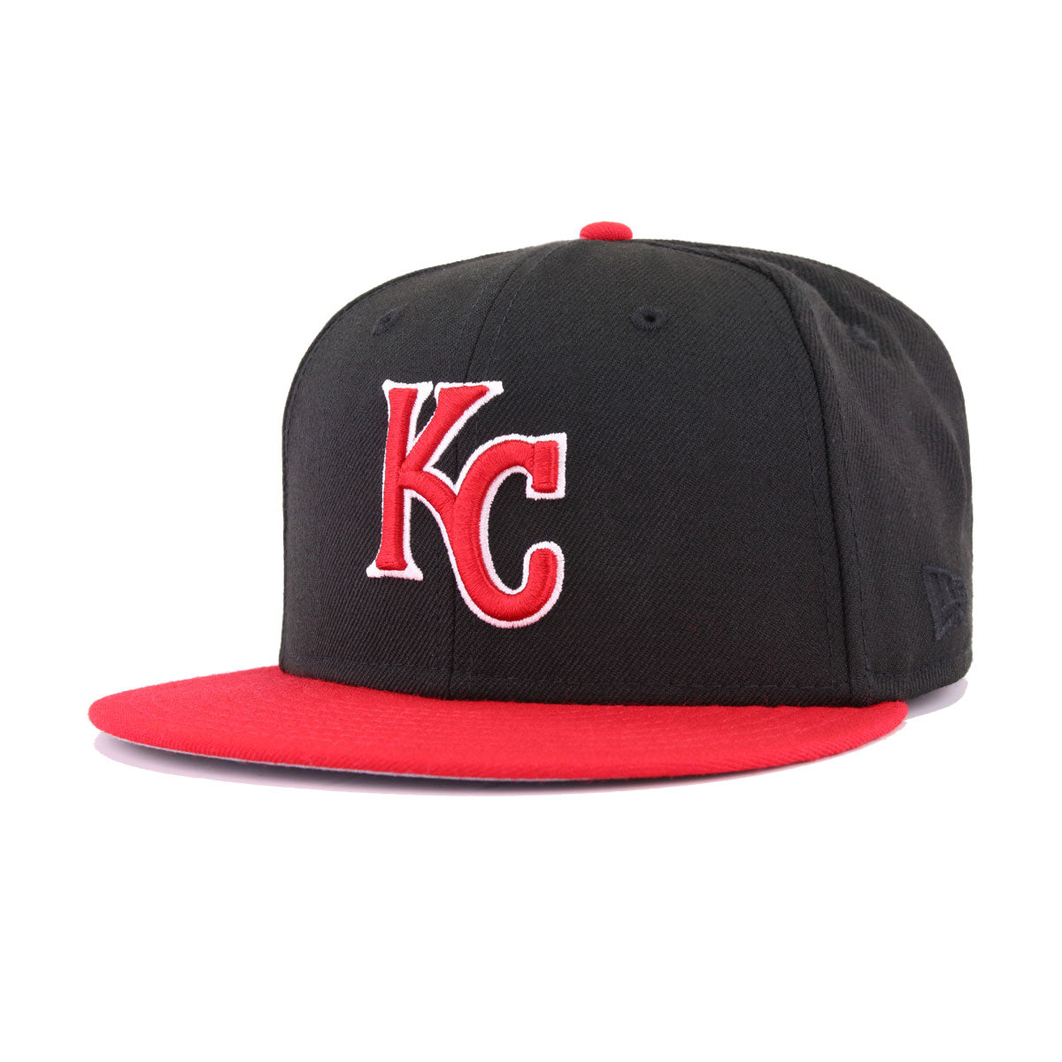 best service 4fe4c 5e0e6 Kansas City Royals Black Scarlet New Era 59Fifty Fitted