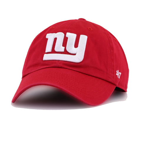 New York Giants Scarlet 47 Brand Clean Up Dad Hat
