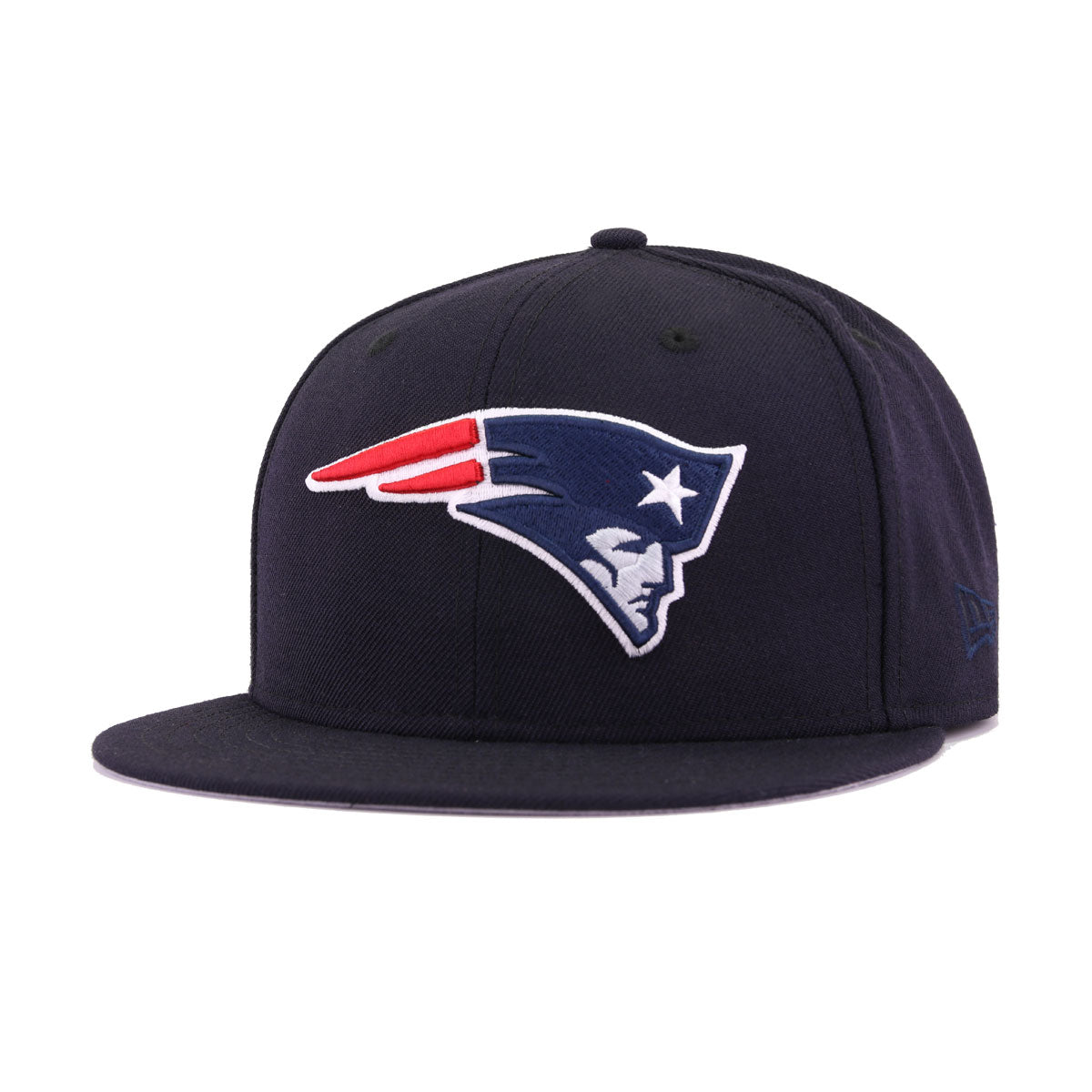 New England Patriots Navy Oceanside Blue Scarlet New Era 9Fifty Snapback
