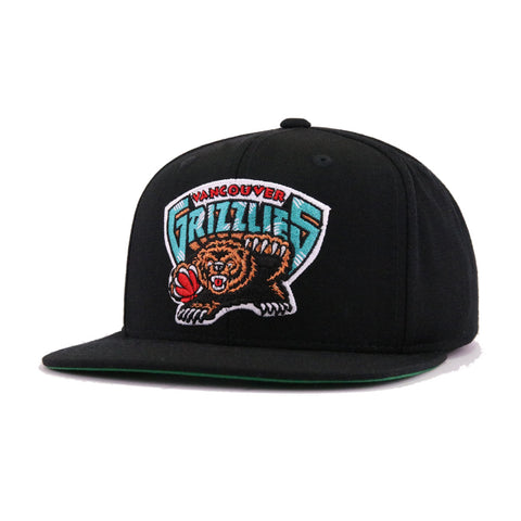 finest selection f0fc2 2fd8b Vancouver Grizzlies Black Hardwood Classic Mitchell and Ness Snapback