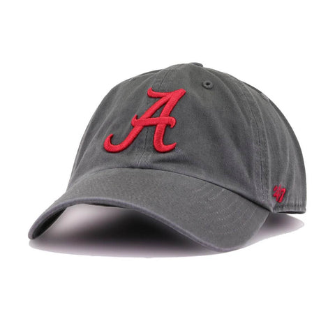 f6723c09a14c45 University of Alabama Crimson Tide Iron Grey 47 Brand Clean Up Dad Hat