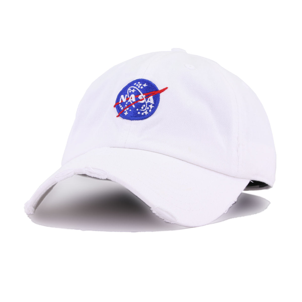 Distressed NASA Meatball White KBEthos Vintage Dad Hat