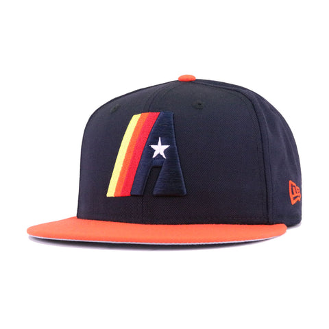 Houston Astros Navy Orangeade Retro New Era 59Fifty Fitted
