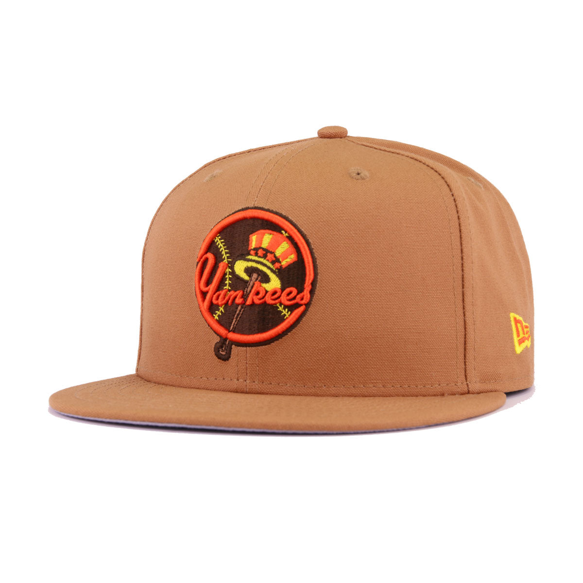 New York Yankees Light Bronze Cotton Canvas New Era 9Fifty Snapback