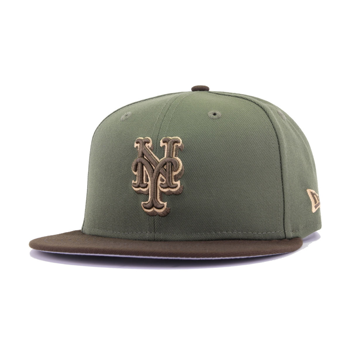 New York Mets New Olive Walnut 25th Anniversary New Era 9Fifty Snapback