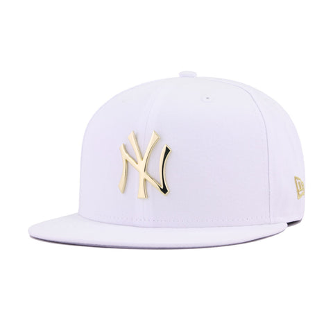 bf1140fb New York Yankees White Gold Metal Badge 27 Championships New Era 9Fifty  Snapback