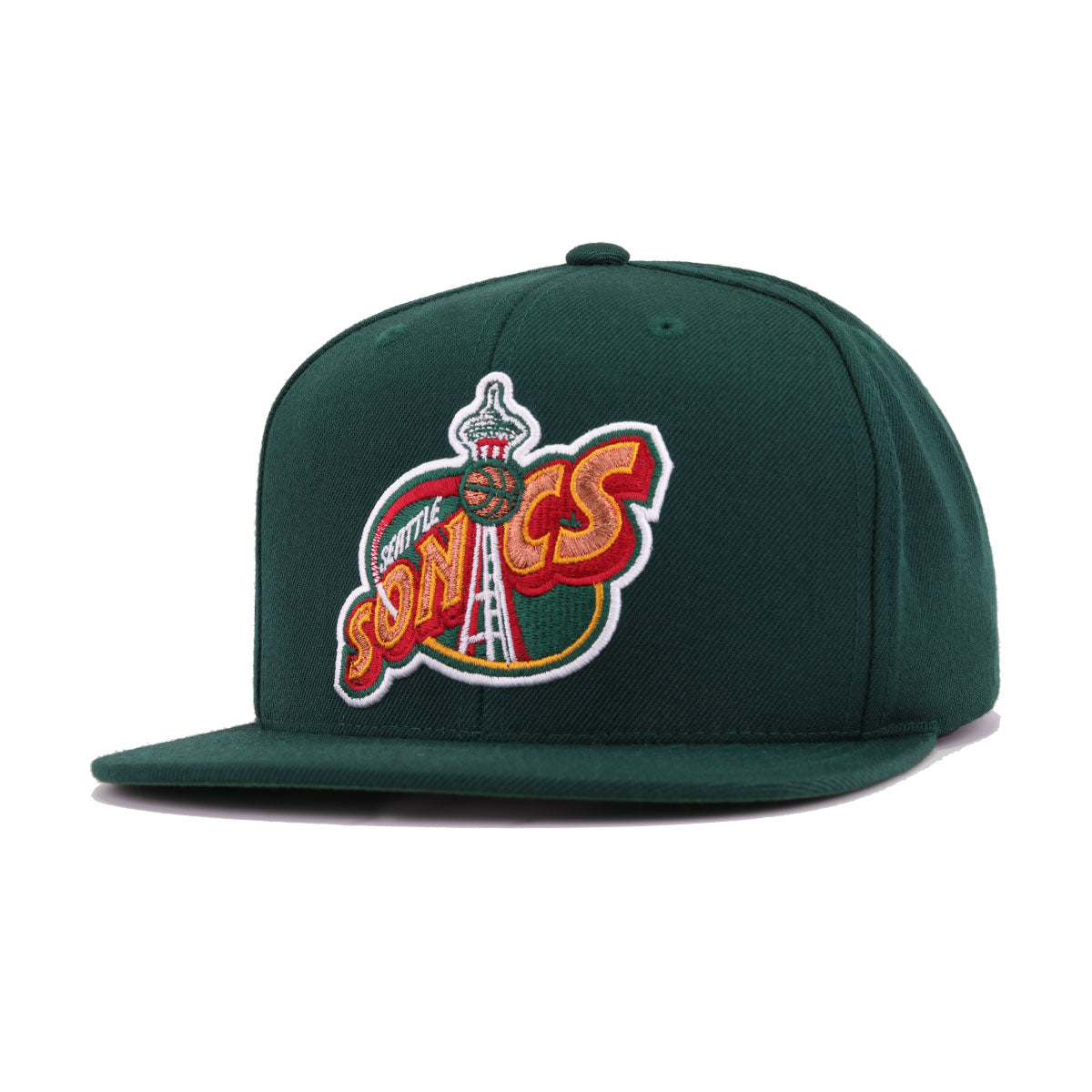 Seattle Supersonics Dark Green Hardwood Classics Mitchell and Ness Snapback