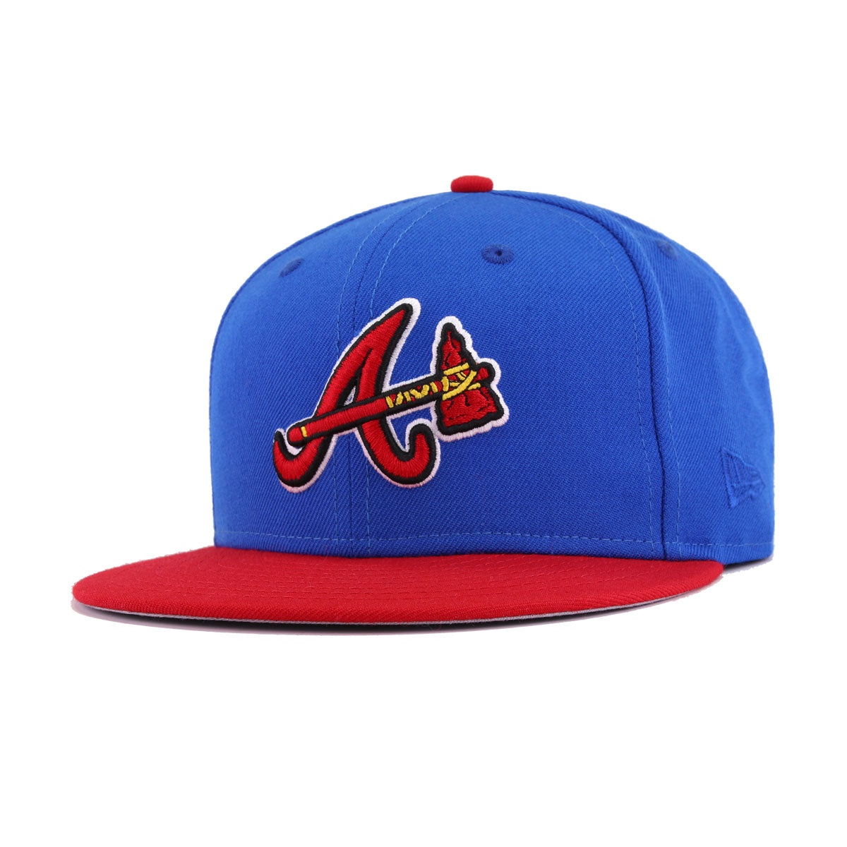 official photos c8de1 71b9d Atlanta Braves Blue Azure Scarlet New Era 9Fifty Snapback